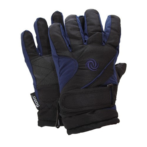 Front - FLOSO Kids/Childrens Extra Warm Thermal Padded Ski Gloves With Palm Grip