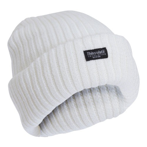 Front - FLOSO Ladies/Womens Chunky Knit Thermal Thinsulate Winter/Ski Hat (3M 40g)