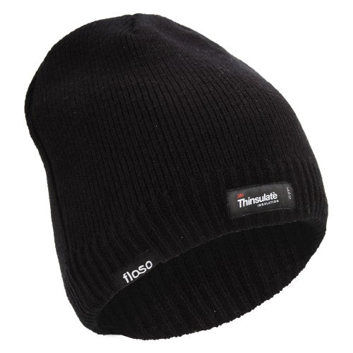 Front - FLOSO Mens Plain Thinsulate Thermal Knitted Waterproof Winter Hat