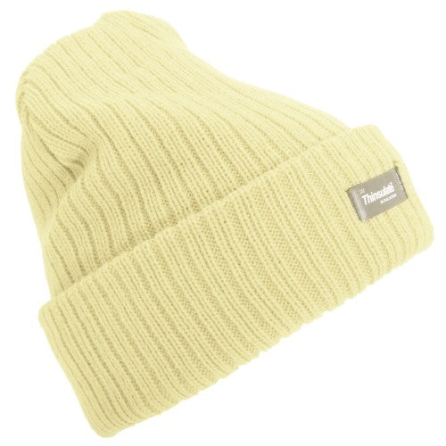 Front - Floso Womens/Ladies Rib Knit Thinsulate Winter Hat