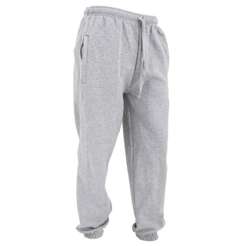 Front - FLOSO Mens Elasticated Jog Pants / Jogging Bottoms (Closed Cuff)