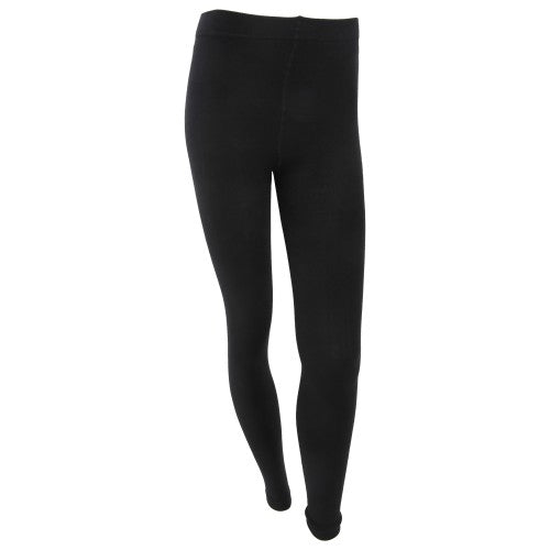 Front - FLOSO Womens/Ladies Plain Thermal Leggings With Brushed Inner (0.5 Tog)