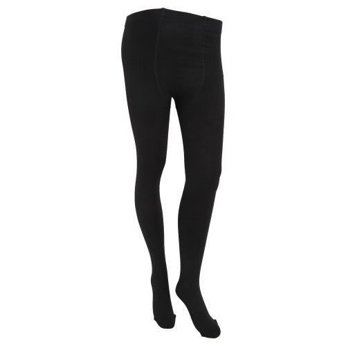 Front - FLOSO Womens/Ladies Plain Thermal Tights With Brushed Inner (0.5 Tog)