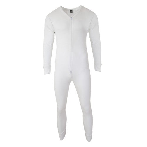 Front - FLOSO Mens Thermal Underwear All In One Union Suit