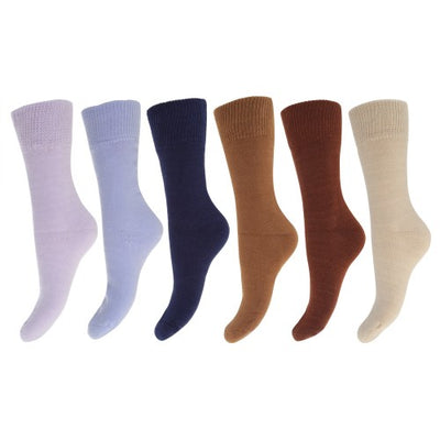 Front - FLOSO Ladies/Womens Premium Quality Multipack Thermal Socks, Double Brushed Inside (Pack Of 6)