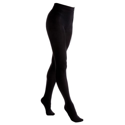 Front - FLOSO Ladies/Womens Black Brushed Thermal Fleece Tights (1 Pair)