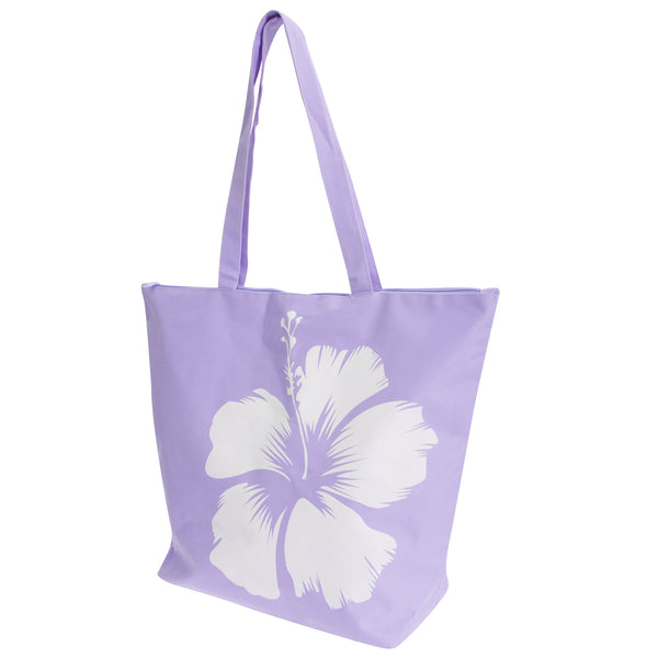 Pink - Front - FLOSO Womens-Ladies Hawaiian Flower Summer Handbag