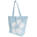 Blue - Front - FLOSO Womens-Ladies Hawaiian Flower Summer Handbag
