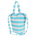 White-Navy - Front - FLOSO Womens-Ladies Striped Summer Handbag With Shoulder Strap