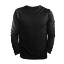 Black - Front - FLOSO Mens Slim Fit British Made Sweatshirt (240gsm)