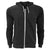 Black - Front - FLOSO Mens Zip Slim Fit Hooded Sweatshirt - Hoodie 240 GSM (British Made)