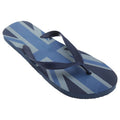 Blue-Navy - Front - FLOSO Mens Union Jack Design Great Britain Summer Wear Flip Flops