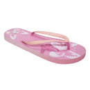 Pink - Front - FLOSO Ladies-Womens Butterfly Flip Flops With Glitter Straps