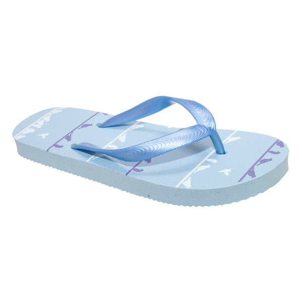 Light Blue - Front - FLOSO Childrens-Kids Girls Bird Flip Flops