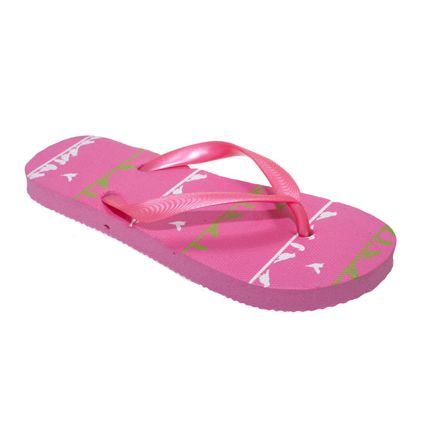 Pink - Front - FLOSO Childrens-Kids Girls Bird Flip Flops