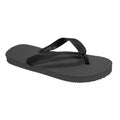 Grey - Front - FLOSO Childrens-Kids Boys Solid Colour Flip Flops