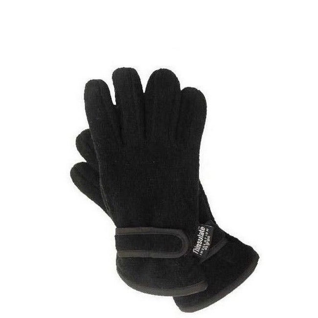 Navy - Front - FLOSO Childrens-Kids Thermal Thinsulate Fleece Gloves With Palm Grip (3M 40g)