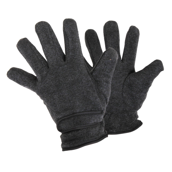 Charcoal - Front - FLOSO Ladies-Womens Thinsulate Fleece Thermal Gloves (3M 40g)