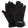 Black - Front - FLOSO Ladies-Womens Thinsulate Thermal Knitted Gloves (3M 40g)
