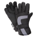Black-Grey - Front - FLOSO Childrens-Kids Padded Water Resistant Thinsulate Thermal Winter-Ski Gloves (3M 40g)