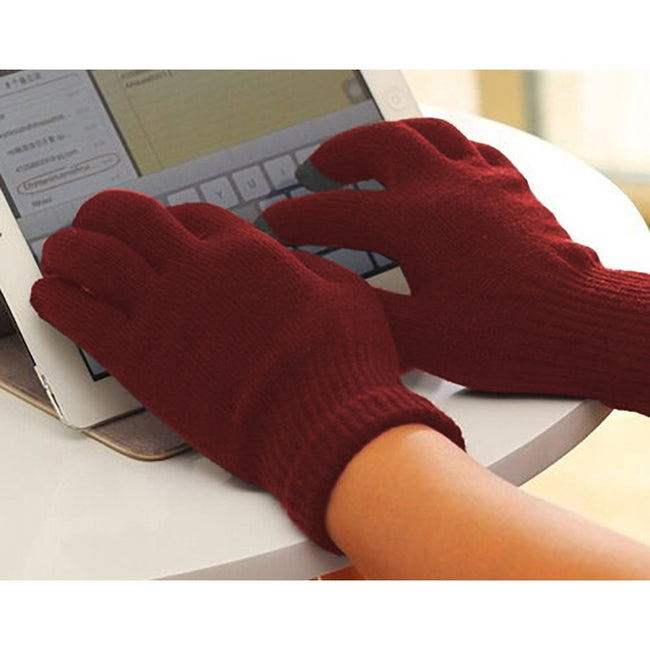 Blackberry - Front - FLOSO Unisex Mens-Womens IPhone-iPad Mobile Touch Screen Winter Magic Gloves