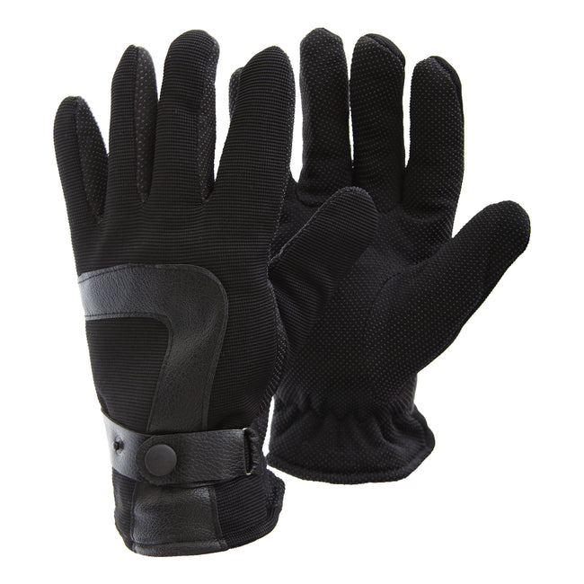 Black - Front - FLOSO Mens Thermal All Action Winter-Ski Gloves With Palm Grip