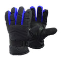 Blue - Front - FLOSO Unisex Waterproof Padded Thermal Winter-Ski Gloves With Grip
