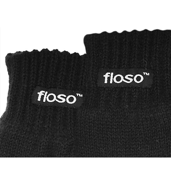 Grey - Front - FLOSO Childrens Unisex Knitted Thermal Thinsulate Gloves (3M 40g)