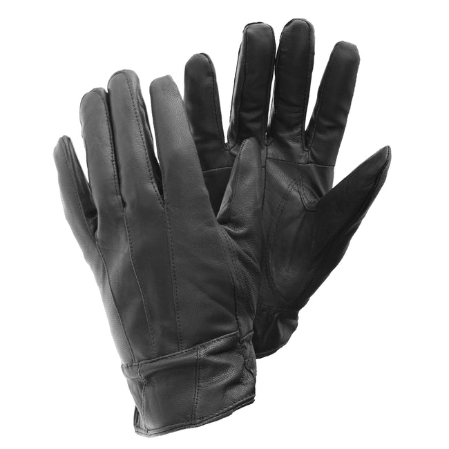Grey - Front - FLOSO Ladies-Womens Sheepskin Leather Gloves