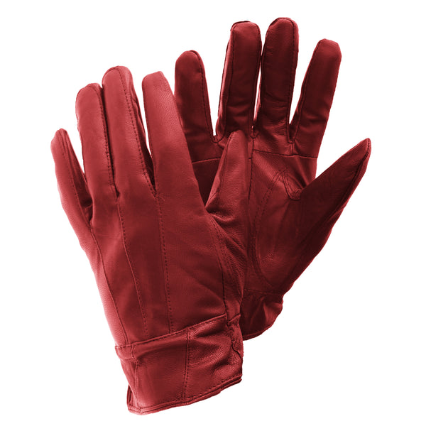 Red - Front - FLOSO Ladies-Womens Sheepskin Leather Gloves