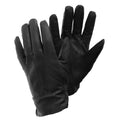 Black - Front - FLOSO Ladies-Womens Sheepskin Leather Gloves