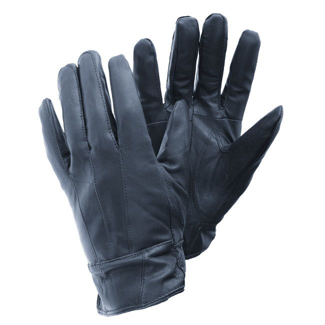 Navy - Front - FLOSO Ladies-Womens Sheepskin Leather Gloves