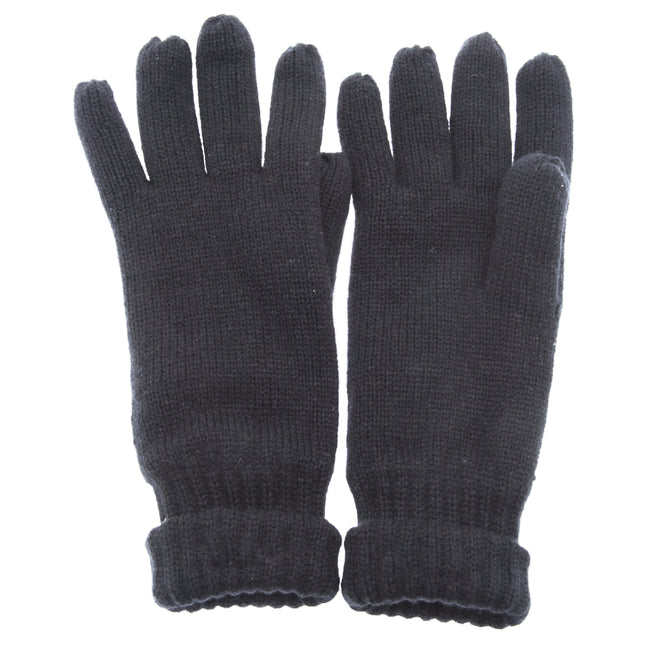 Grey - Front - FLOSO Mens Thinsulate Knitted Winter Gloves (3M 40g)