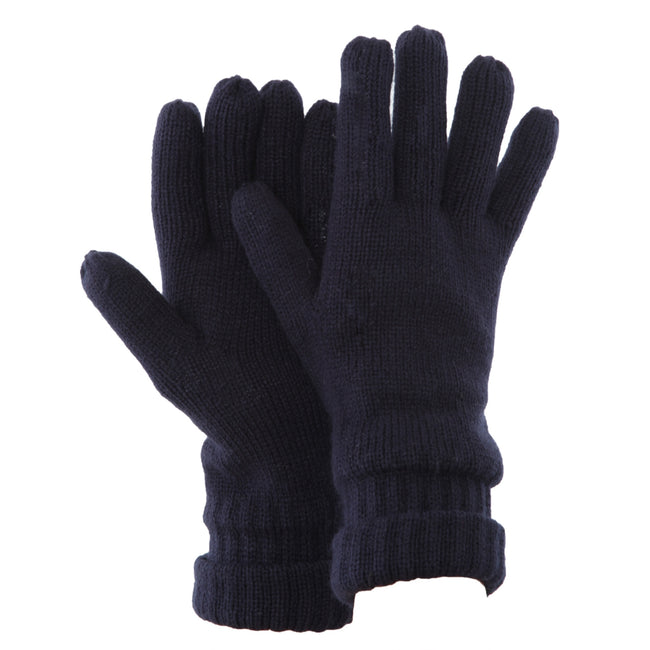Navy - Front - FLOSO Mens Thinsulate Knitted Winter Gloves (3M 40g)