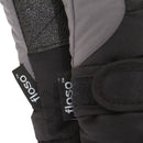 Grey-Black - Back - FLOSO Kids-Childrens Extra Warm Thermal Padded Ski Gloves With Palm Grip