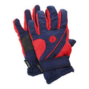 Navy-Red - Front - FLOSO Kids-Childrens Extra Warm Thermal Padded Ski Gloves With Palm Grip