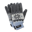 Blue - Front - FLOSO Ladies-Womens Thinsulate Fairisle Thermal Gloves (3M 40g)