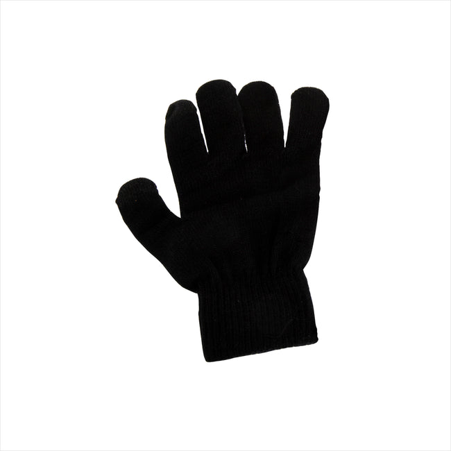 Black - Back - FLOSO Womens-Ladies Touch Screen Gloves
