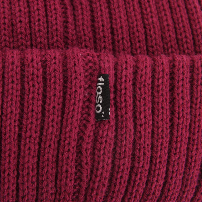 Dusky Pink - Front - FLOSO Ladies-Womens Chunky Knit Thermal Thinsulate Winter-Ski Hat (3M 40g)