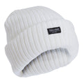 Snow White - Front - FLOSO Ladies-Womens Chunky Knit Thermal Thinsulate Winter-Ski Hat (3M 40g)