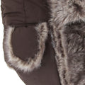 Dark Sand-Brown Fur - Front - FLOSO Mens Faux Fur Lined Showerproof Thermal Trapper Hat