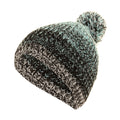 Aqua - Black - Front - FLOSO Mens - Womens Unisex Two-Tone Winter Bobble Beanie Hat