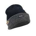 Black-Grey - Front - FLOSO Unisex Mens-Womens Thinsulate Heavy Knit Winter-Ski Thermal Hat (3M 40g)