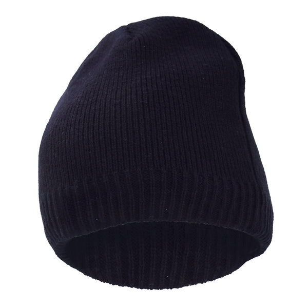 Navy - Back - FLOSO Mens Plain Thinsulate Thermal Knitted Waterproof Winter Hat