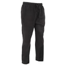 Black - Front - FLOSO Mens Casual Jogging Bottoms (Open Cuff)