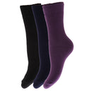 Black - Front - FLOSO Childrens Boys-Girls Winter Thermal Socks (Pack Of 3)
