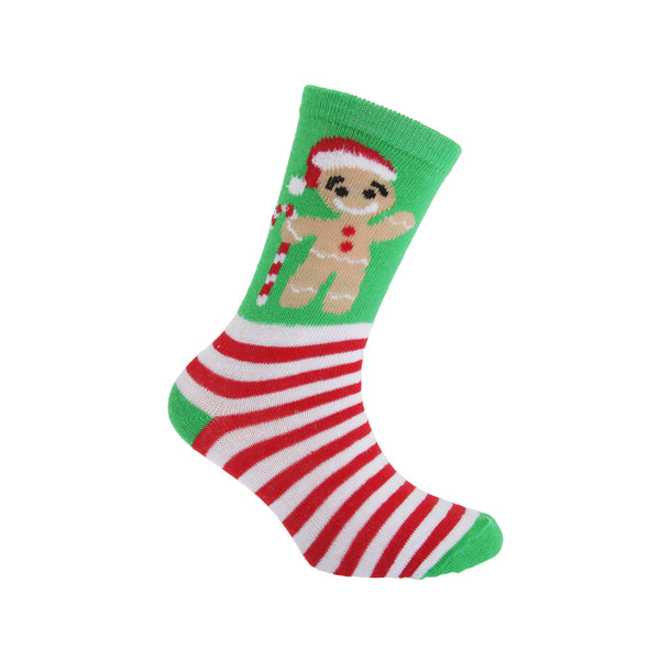 Navy-Green-Red - Back - FLOSO Childrens-Kids Christmas Character Novelty Socks (Pack Of 4)