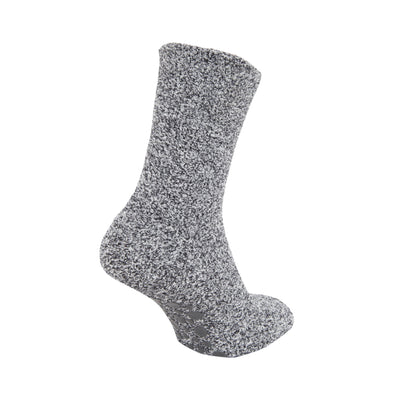 Grey - Front - FLOSO Kids Warm Slipper Socks With Rubber Non Slip Grip