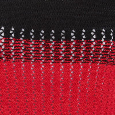 Black-Red - Back - FLOSO Womens-Ladies Deauville Two Tone Knitted Jumper (British Made)