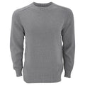 Silver - Front - FLOSO Unisex Cotton Rich Plain Knitted Jumper (British Made)